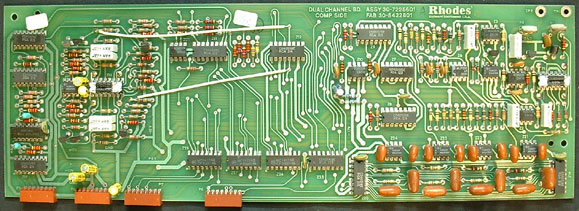 Rhodes voice board with fabrication date of 33-82