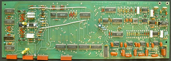 Rhodes voice board with fabrication date of 22-82