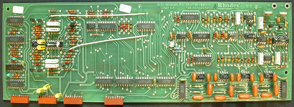 Rhodes voice board with fabrication date of 25-82
